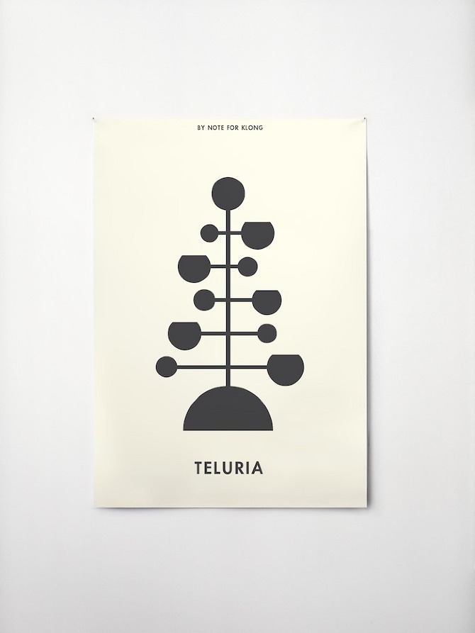Teluria by Note Design in THISISPAPER MAGAZINE