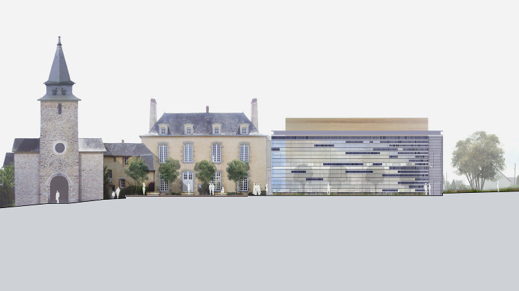 saint berthevin pole culturel opus 5 architectes. Black Bedroom Furniture Sets. Home Design Ideas